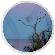Lavendar Moon Round Beach Towel