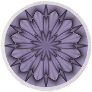 Lavender Abstract Flower Round Beach Towel