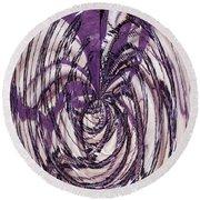 Lavender Bead Art Round Beach Towel