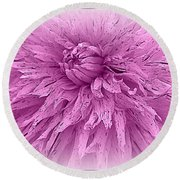 Lavender Beauty Round Beach Towel