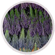 Lavender Drying Rack Round Beach Towel