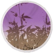 Purple Haiku Round Beach Towel