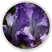 Lavender Lust Round Beach Towel