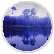 Lavender Morning Round Beach Towel