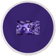 Lavender Water Abstract Round Beach Towel