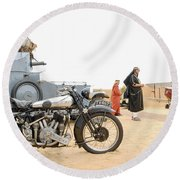 Lawrence Of Arabia Display At The Goodwood Revival Meeting Round Beach Towel