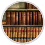 Lawyer - Books - Law Books  Round Beach Towel