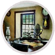 Lawyer - Globe Books And Lamps Round Beach Towel