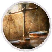 Lawyer - Scale - Balanced Law Round Beach Towel