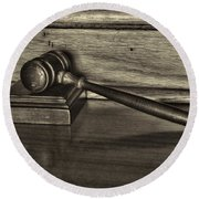 Lawyer - The Gavel Round Beach Towel