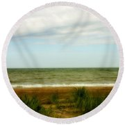 Natural Layers Round Beach Towel