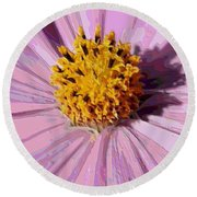 Layers Of A Cosmos Flower Round Beach Towel