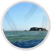 Layers Of Blue Round Beach Towel