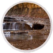 Layers Of Falls Round Beach Towel