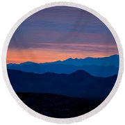 Layers - The Mojave IIi Round Beach Towel