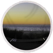 Lazy Morning  Round Beach Towel