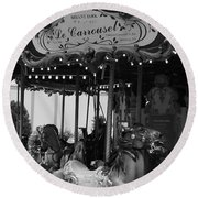 Le Carrousel Round Beach Towel