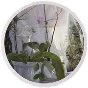 Le Orchidee Sfumate Round Beach Towel