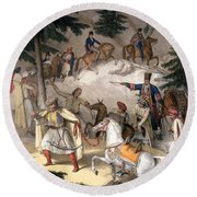 Le Pinde - Plate Xi, Engraved Round Beach Towel