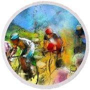 Le Tour De France 01 Round Beach Towel