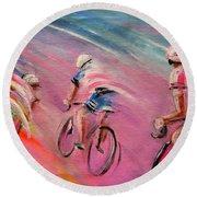 Le Tour De France 16 Acrylics Round Beach Towel
