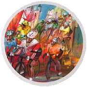 Le Tour De France Madness 04 Round Beach Towel