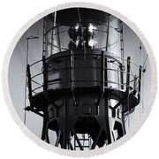 Lead Me Home Lightship. Round Beach Towel