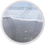 Leading To The Sea Round Beach Towel