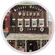 Leadville Saloon Round Beach Towel