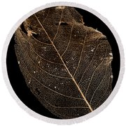 Leaf Lace Round Beach Towel