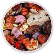 Leaf Patterns 2 Round Beach Towel
