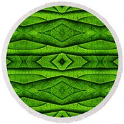 Leaf Structure Abstract Round Beach Towel