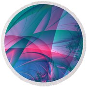 Lean On Me Round Beach Towel