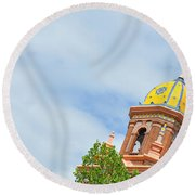 Leaning - Architectural Detail Round Beach Towel