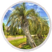 Leaning Palm Round Beach Towel