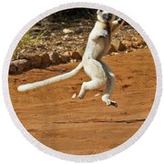 Leaping Lemur Round Beach Towel