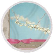 Learn Live And Hope Round Beach Towel