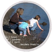 Learning Round Beach Towel