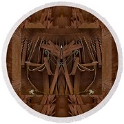 Leather Man In A Leather Collage Round Beach Towel