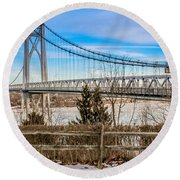 Leave The Past Behind  Round Beach Towel