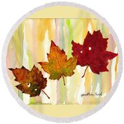 Leaves Of Fall Round Beach Towel
