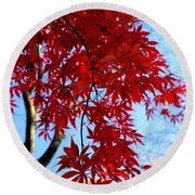 Leaves0591 Round Beach Towel