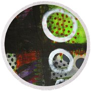 Leaving The Dark Abstract  Round Beach Towel