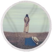 Leaving The Past Behind Me Round Beach Towel