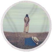 Leaving The Past Behind Me Round Beach Towel by Joana Kruse