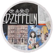 Led Zeppelin Past Times Round Beach Towel