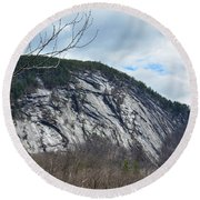 Ledge In New Hampshire Round Beach Towel