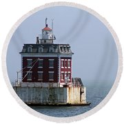 Ledge Light - Connecticut's House In The River  Round Beach Towel