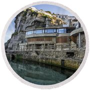 Ledge Reflections Round Beach Towel