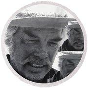 Lee Marvin Monte Walsh #1 Old Tucson Arizona 1969-2012   Round Beach Towel